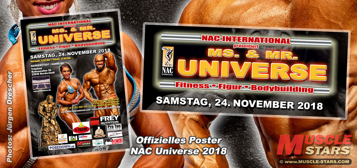NAC Ms. & Mr. UNIVERSE 2018, German & International Poster