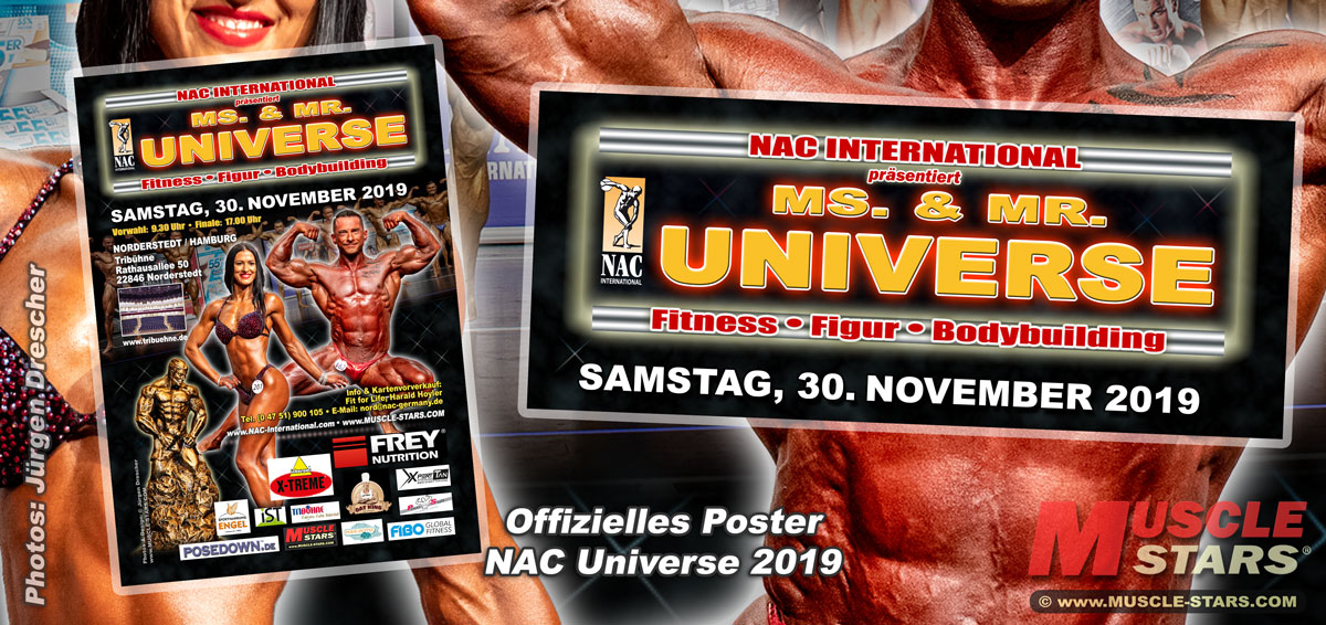 NAC Ms. & Mr. UNIVERSE 2019, German & International Poster