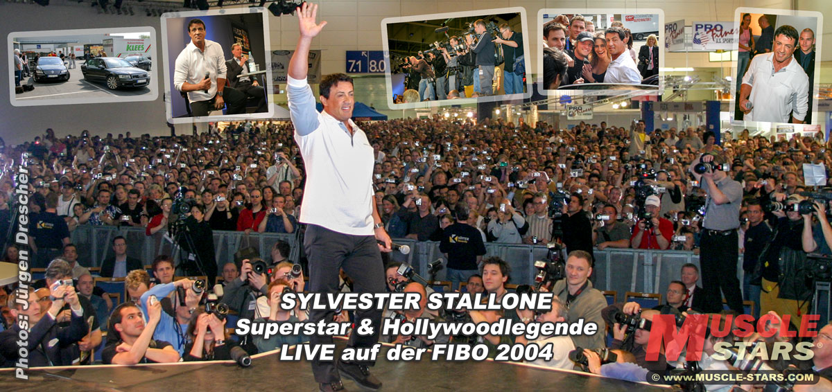 Sylvester Stallone, Superstar & Hollywoodlegende, LIVE auf der FIBO